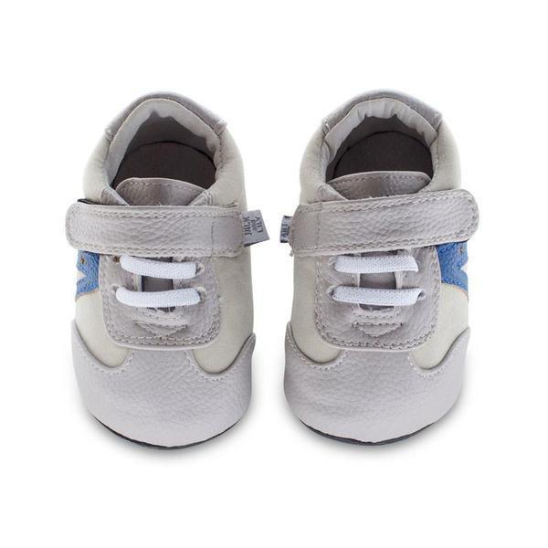 Boys First Walking Shoes - Jack & Lily  LOUIS Star Trainer Grey Suede