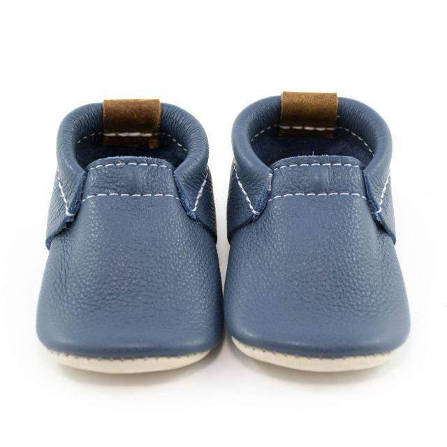 Boys First Walking Shoes - Minimoc Blue Heron Baby Shoes
