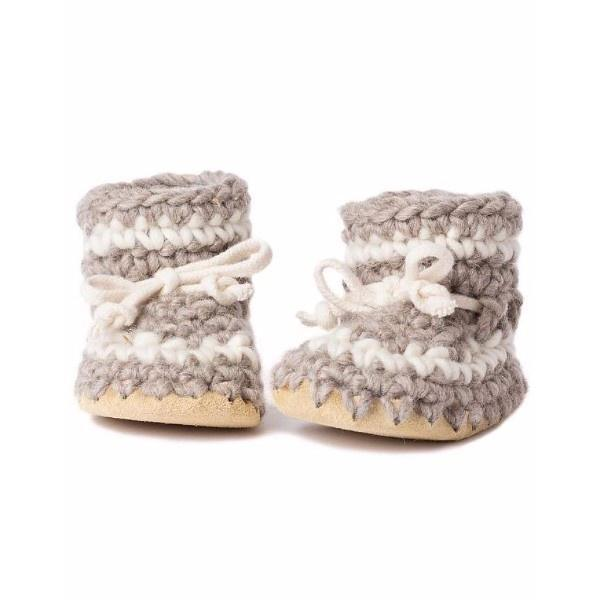 Padraig Baby Gray with Stripe / Toddler Slippers