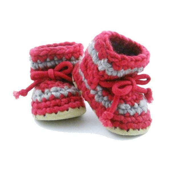 Padraig Baby Red Stripe / Infant / Toddler Slippers