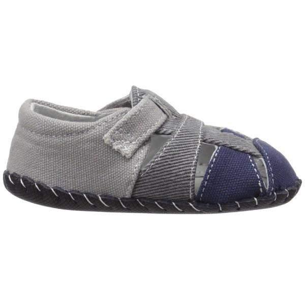 Pediped Harvey Grey Navy / Infant Toddler / Sandals - ShoeKid Canada