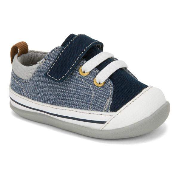 See Kai Run - Stevie II Sneakers for Infants Blue Denim - ShoeKid.ca