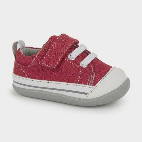 Boys First Walking Shoes - See Kai Run Kids Baby Boy's Stevie II Red/Grey
