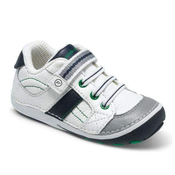 ShoeKid.ca:Stride Rite Artie White Navy Sneaker / Infant / Toddler