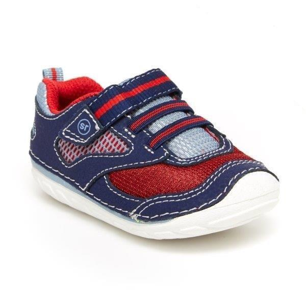Boys First Walking Shoes - Stride Rite Baby Boys Adrian Navy Red Sneaker