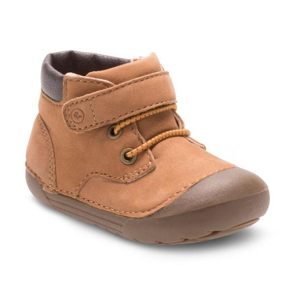 Boys First Walking Shoes - Stride Rite SM BURRELL/TAN Infant/Toddler
