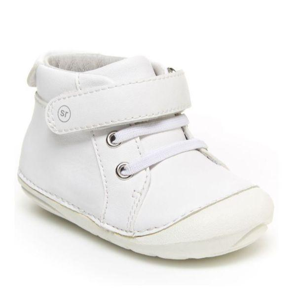 Stride Rite SM Frankie White Leather Sneaker - ShoeKid Canada