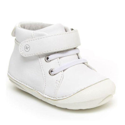 Boys First Walking Shoes - Stride Rite SM Frankie White Leather Sneaker