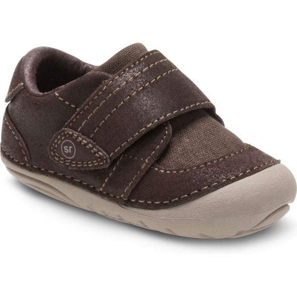 Boys First Walking Shoes - Stride Rite SM KELLEN Brown Infant/Toddler