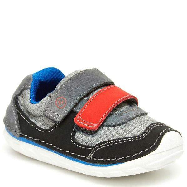 Boys First Walking Shoes - Stride Rite SRT SM MASON Gray Black / Infant / Toddler