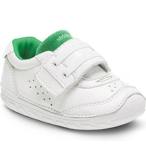 Boys First Walking Shoes - Stride Rite Wyatt White Sneaker / Infant / Toddler