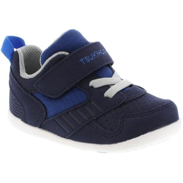 Boys First Walking Shoes - Tsukihoshi Racer Navy Blue / Machine Washable / Baby / Toddler