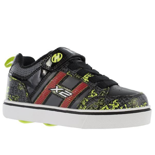 Heelys Bolt X2 - Black/Grey/Bright Yellow (Lightup) - shoekid.ca