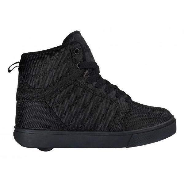 Heelys Uptown Hi-Top - Black/Ballistic Nylon Skate Shoes - shoekid.ca