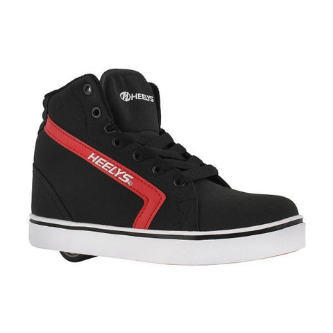 Boys Heelys - Heelys Uptown Hi-Top - Black Red Skate Shoes