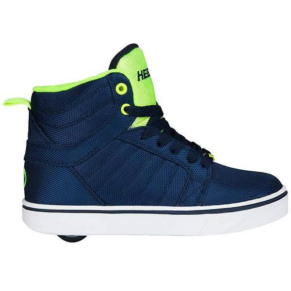 Heelys Uptown Navy Yellow Ballistic - shoekid.ca