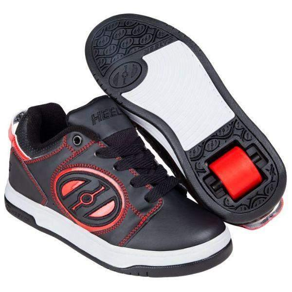 Boys Heelys - Heelys Voyager Black / Red / Kids Heelys / Youth