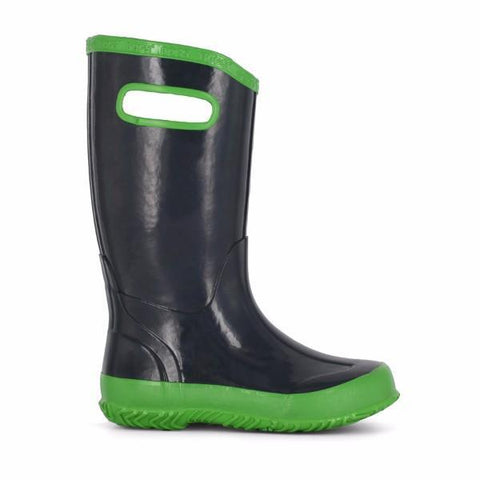 Boys Rain Boots - Bogs Rainboot Navy / Green / Little Kids / Youth