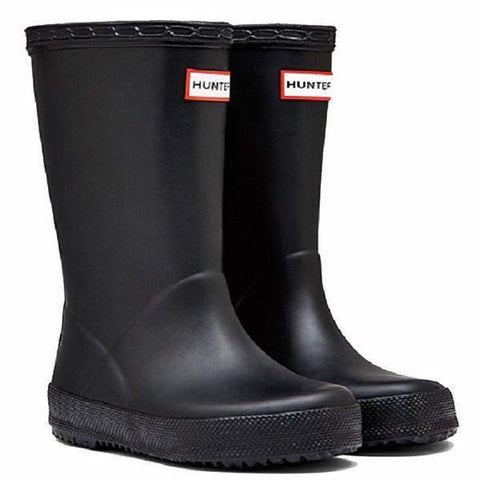 Boys Rain Boots - Hunter Kids First Classic Black Rainboots / Infant / Toddler