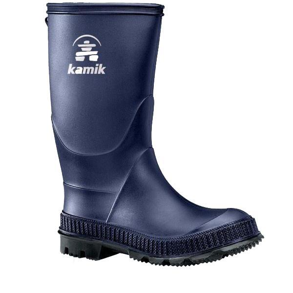 Kamik Stomp Boys Rain Boots / Navy / Made in Canada - ShoeKid.ca