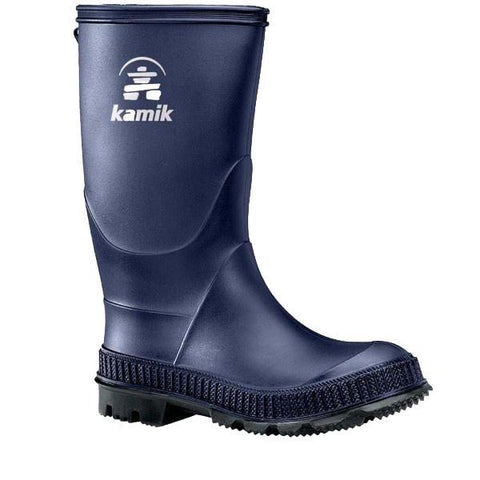 Boys Rain Boots - Kamik Stomp Big Kids Rainboots / Youth / Navy