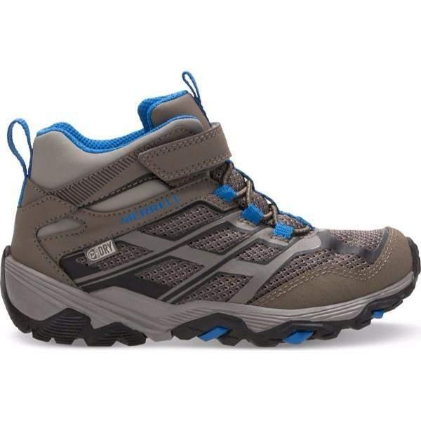 Merrell MOAB High Gray Hiking /Waterproof /Little Kids / Youth - shoekid.ca