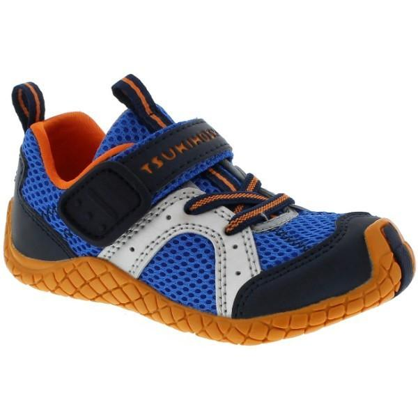 Boys Running Shoes - Tsukihoshi Child 12 Marina Cobalt Orange (Machine Washable)