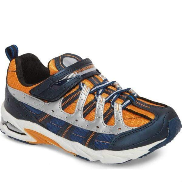 Boys Running Shoes - Tsukihoshi CHILD20 1217 SPEED (Toddler/Little Kid) Machine Washable - Gray Orange