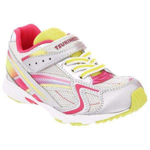 ShoeKid.ca:Tsukihoshi CHILD37 GLITZ (Toddler/Little Kid) Machine Washable - Silver Lime