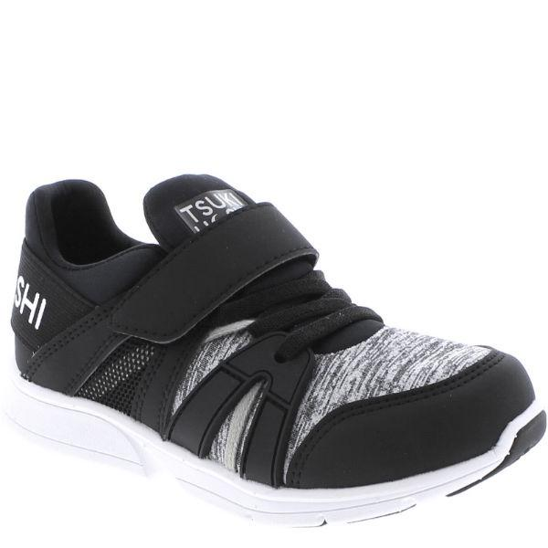 Boys Running Shoes - Tsukihoshi Ignite Black Gray / Machine Washable