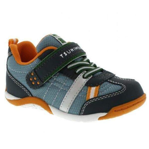 Tsukihoshi Kaz Charcoal Boys Running Shoes (Machine Washable)