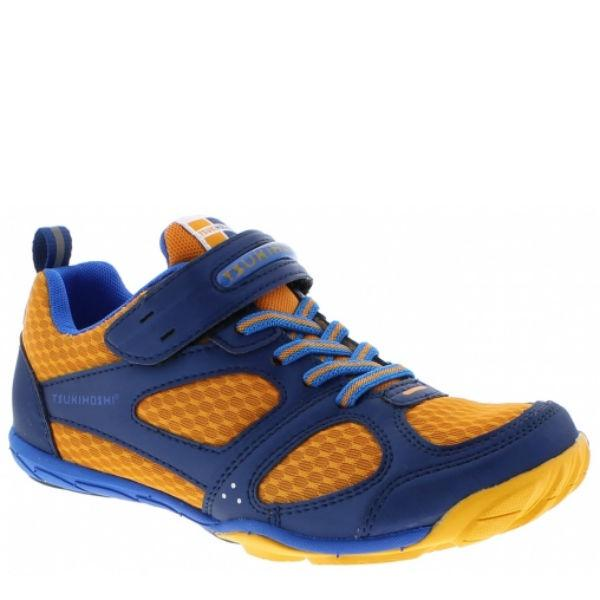 Tsukihoshi Mako Boys Running Shoes Orange Navy