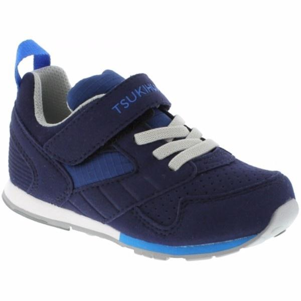 Tsukihoshi Racer Navy Blue / Machine Washable / Little Kids - ShoeKid Canada