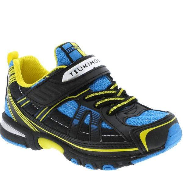 Tsukihoshi Storm Black Blue Boys Running Shoes (Machine Washable) - ShoeKid.ca