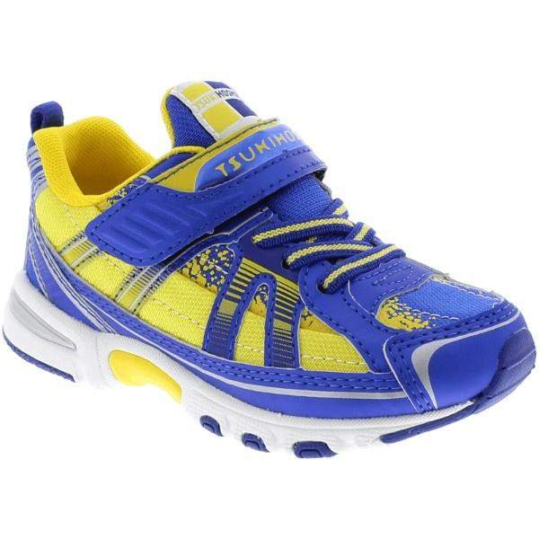 Tsukihoshi Storm Royal Gold Boys Running Shoes (Machine Washable) - ShoeKid.ca