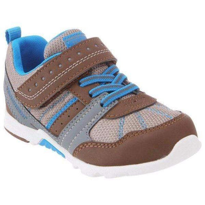 Boys Running Shoes - Tsukihoshi TREK /Toddler/Little Kid / Machine Washable / Brown Blue
