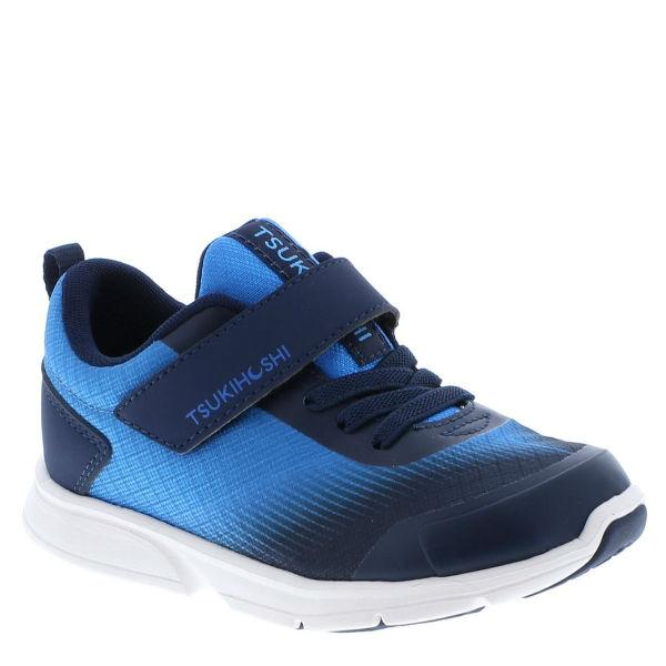 Tsukihoshi Turbo Blue Navy Boys Running Shoes (Machine Washable)