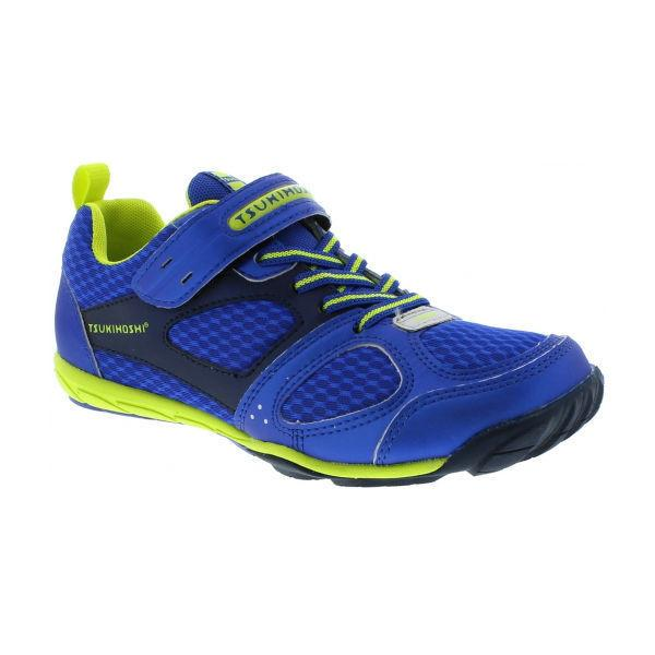 Tsukihoshi Mako Boys Running Shoes Blue Lime (Machine Washable)