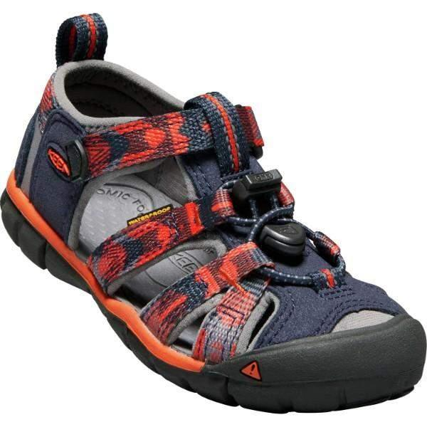 Keen Seacamp II CNX SANDAL Blue Spicy Orange - shoekid.ca