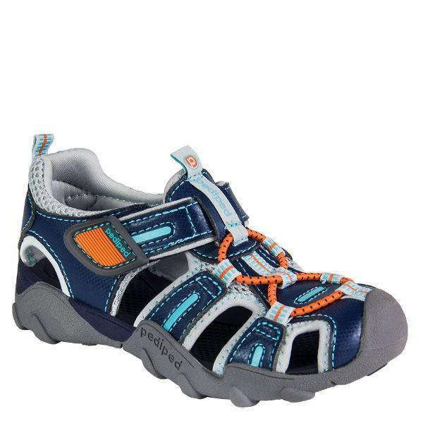 Pediped Canyon Teal Orange / Water Friendly / Little Kids / Youth / Machine Washable - ShoeKid Canada
