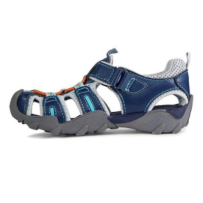 Boys Sandals - Pediped Canyon Teal Orange  / Water Friendly / Little Kids / Youth / Machine Washable