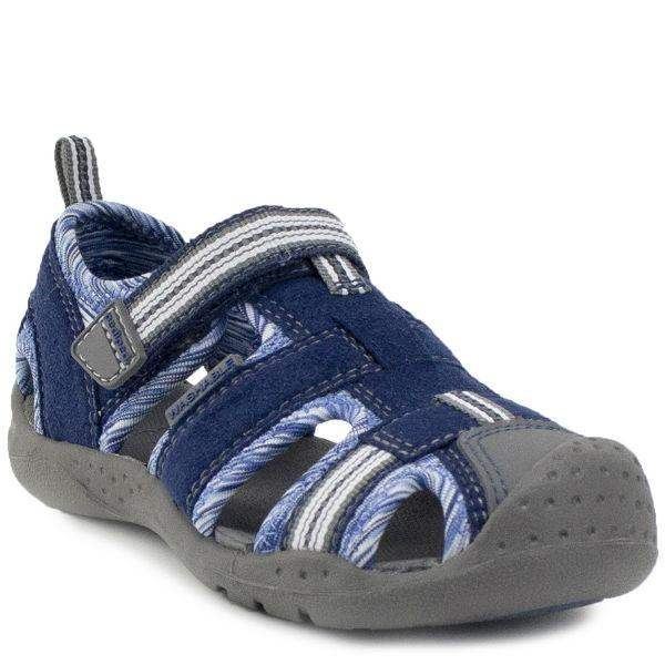 Boys Sandals - Pediped Sahara Blue Stripe  / Water-friendly / Toddler / Little Kids / Machine Washable