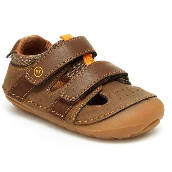 Stride Rite Elijah Brown Infant/Toddler Boys Leather Sandals - ShoeKid.ca