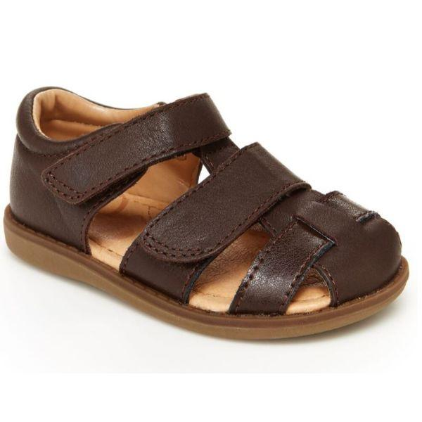 Boys Sandals - Stride Rite Emerson Brown Toddler Leather Sandals