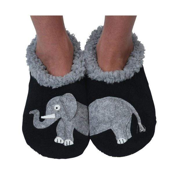 Boys Slippers - Snoozies Elephant Indoor Slippers / Toddler / Little Kids