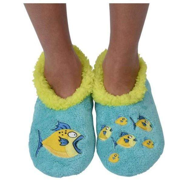 Boys Slippers - Snoozies Fish Indoor Slippers / Toddler / Little Kids