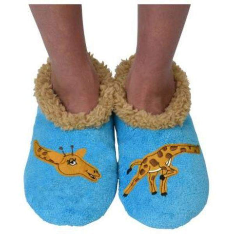 Boys Slippers - Snoozies Giraffe Indoor Slippers / Toddler / Little Kids