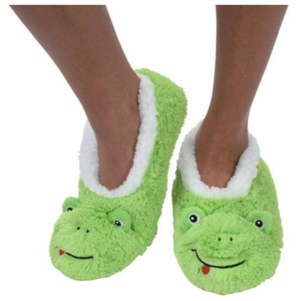 Boys Slippers - Snoozies Indoor Slippers Green Frog / Big Kids / Youth