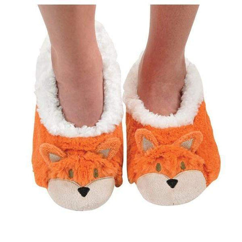 Boys Slippers - Snoozies Indoor Slippers Orange Fox / Big Kids / Youth