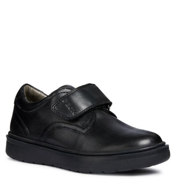 Boys Uniform Shoes - Geox Boys J RIDDOCK Leather Uniform Shoes